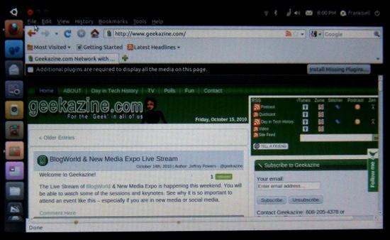 Online with Ubuntu Netbook Remix 10.10
