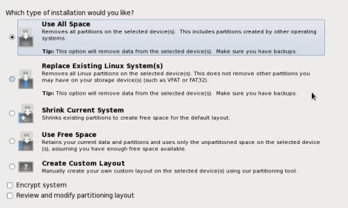 Partitioning Dialog