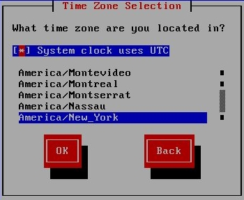 Time Zone Selection