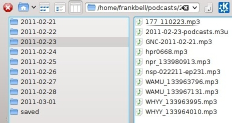 Podcasts directory