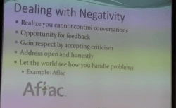 Social Media Breakfast - Aflac Negativity