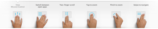 Apple OSX Lion Multi-touch TrackPad Features