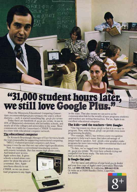 Vintage Google Plus Ad
