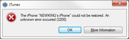 ios5-3200 error message