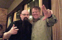 Robert Scoble and I wearing Glass