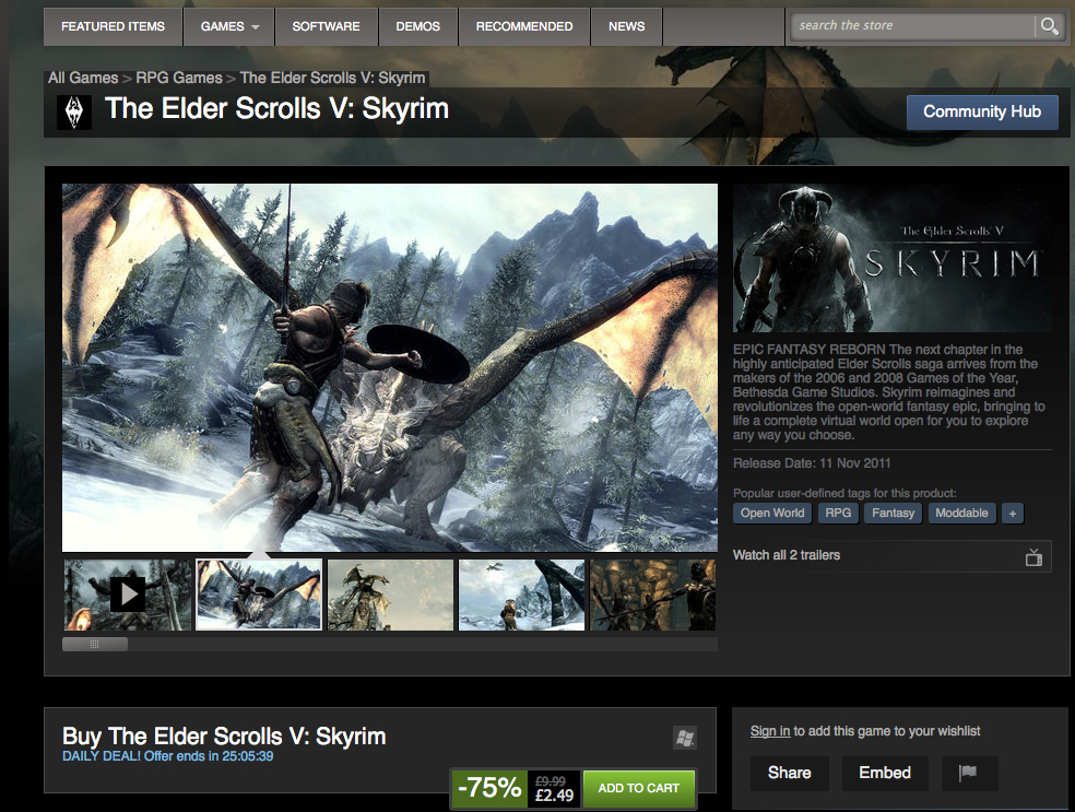 Skyrim on Steam