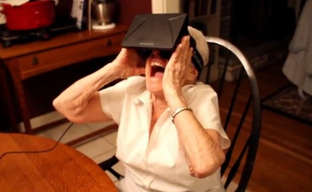 Grandma still loves her Oculus Rift.