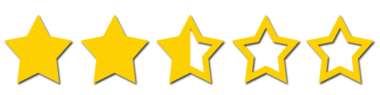 Image result for 2.5 out of 5 stars