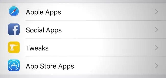 Get Separate Folders For Tweaks & Apps In iOS Settings