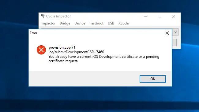 Cydia Impactor Error Fix: