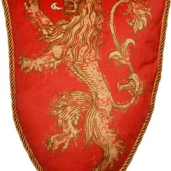 Game Of Thrones Office Chair Cover Rentals Macon Ga House Lannister Lion Sigil Plush Pillow