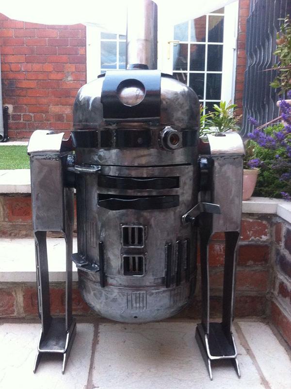DIY R2 D2 Wood Burner For The Welder In You Geek Decor