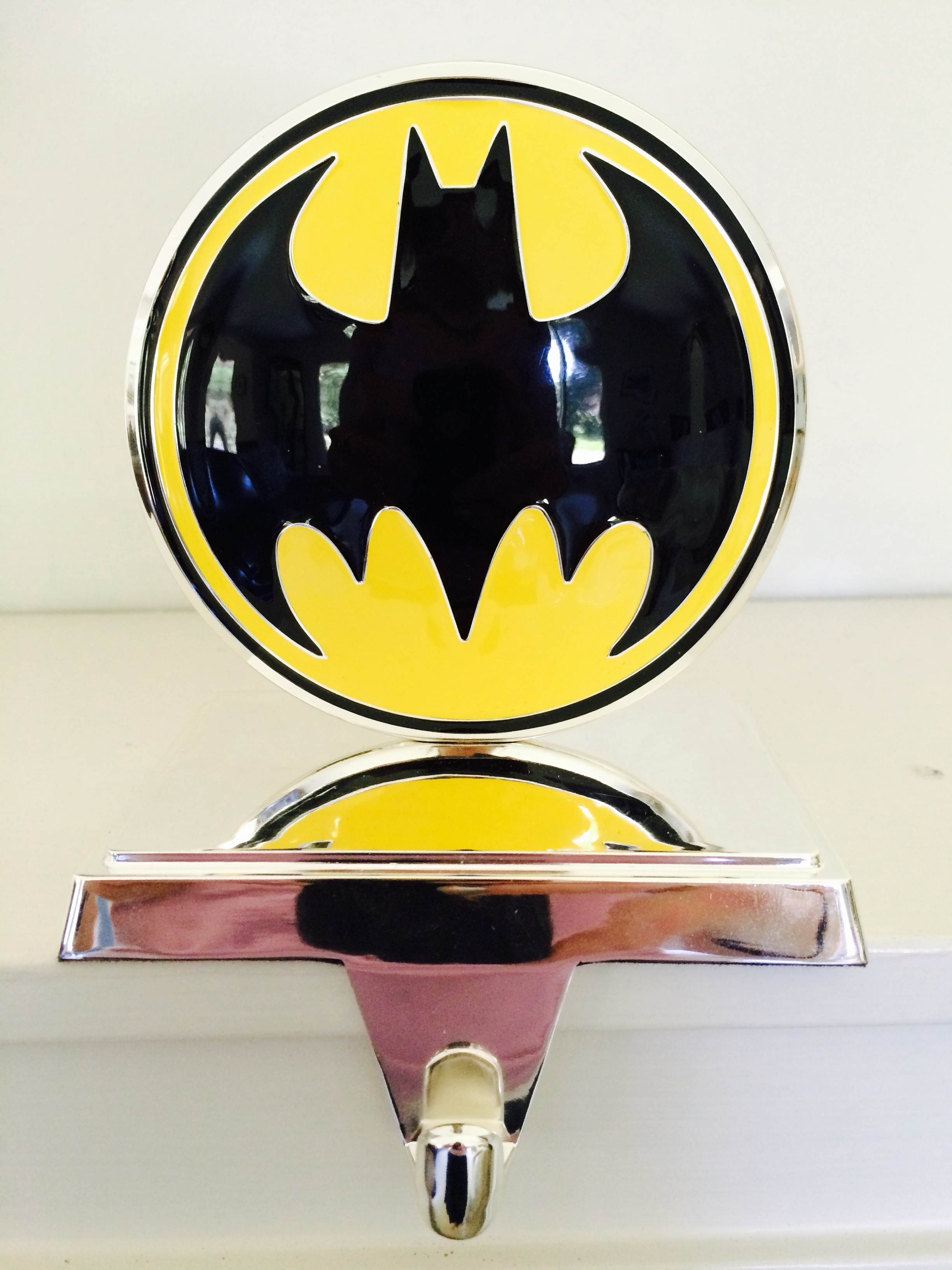 Shiny Batman Christmas Stocking Jacket Hanger Geek Decor