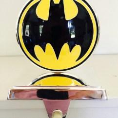 Kitchen Curtains Amazon White Leather Bar Stools Shiny Batman Christmas Stocking / Jacket Hanger   Geek Decor