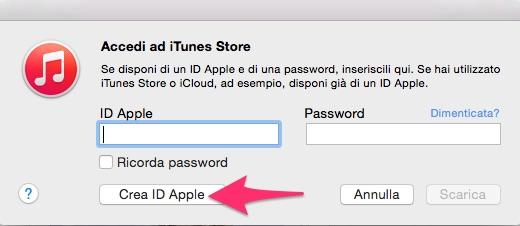 Crea ID Apple
