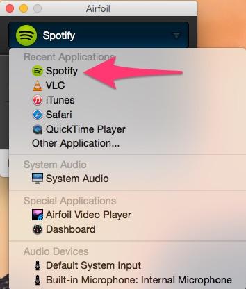 AirFoil: trasmettere musica filodiffusione da Spotify