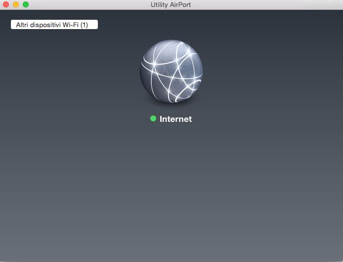 Interfaccia vergine Utility AirPort