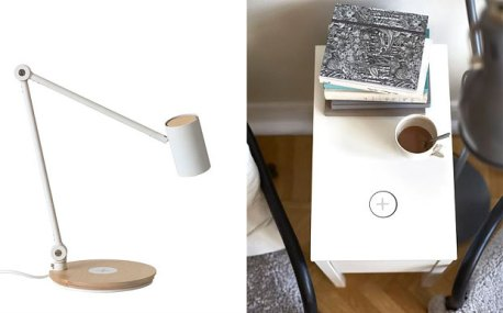 IKEA ha annunciato una speciale collaborazione con Samsung e dal 10 aprile venderà nei suoi negozi lampade, tavolini e basi di truciolato per caricare i tuoi dispositivi elettronici senza fili. Non tutti i dispositivi, ma per ora solo i Samsung S6 che usciranno proprio in quella data. Basta posizionare il telefono o il tablet sulla placchetta con il segno + e la ricarica inizierà istantaneamente.