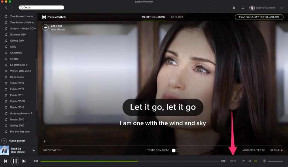 Come visualizzare i testi delle canzoni su Spotify