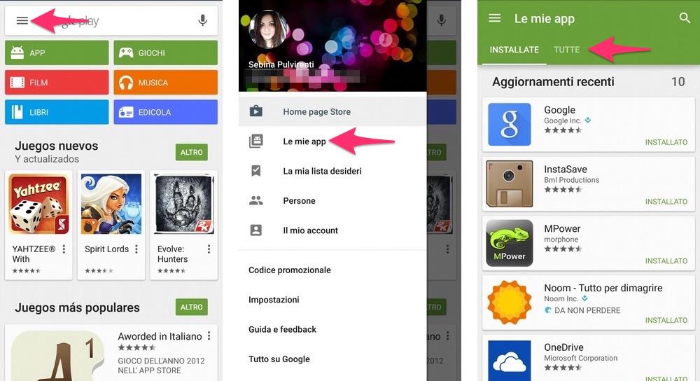 Reinstallare tutte le tue app Android sul nuovo cellulare