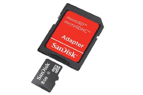 Scheda microSD con adattatore