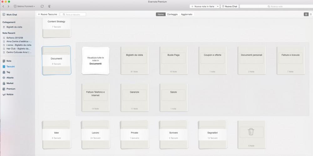 Come ho organizzato i documenti su Evernote
