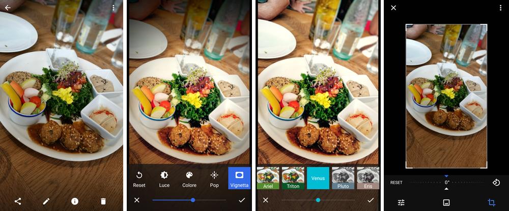 Le funzioni di fotoritocco di Google Foto