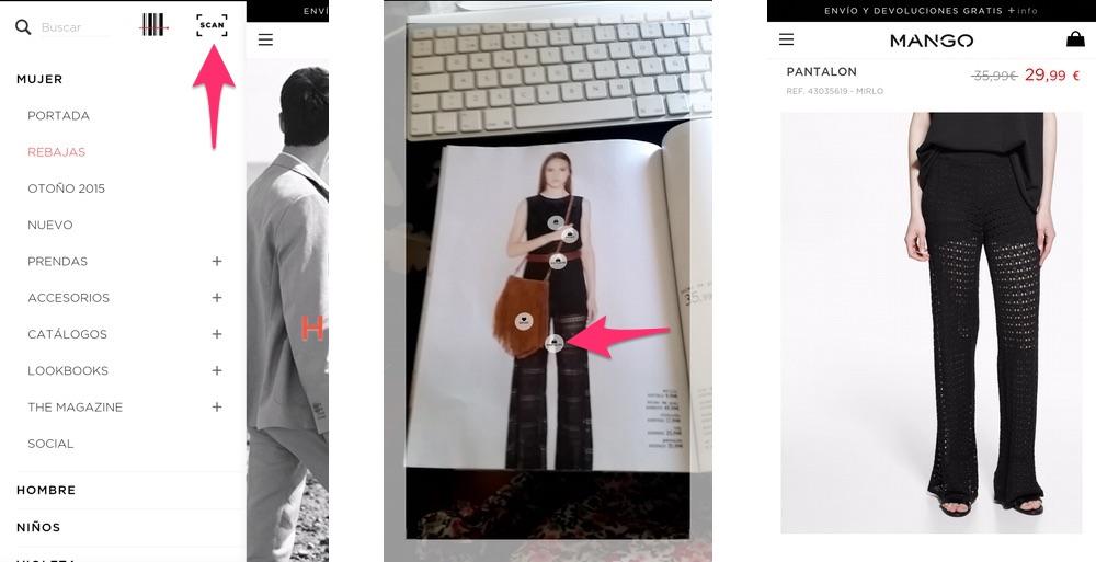 L'app di Mango ti permette di fare acquisti dal catalogo sfruttando la tecnologia della realtà aumentata