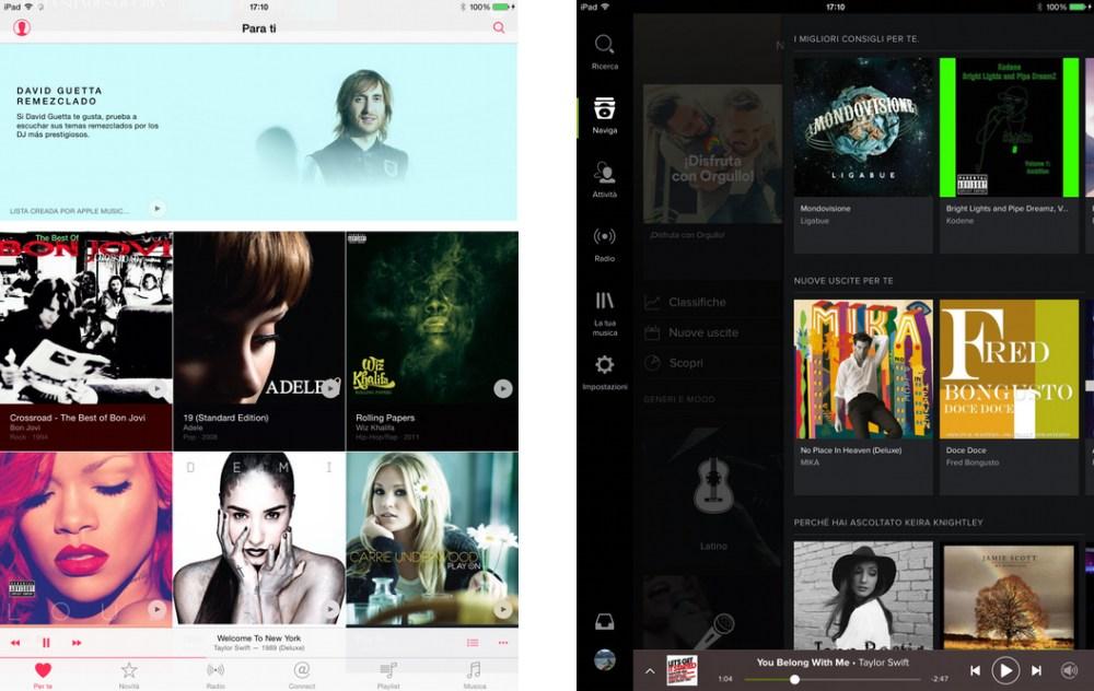 Apple Music o Spotify? I suggerimenti musicali a confronto
