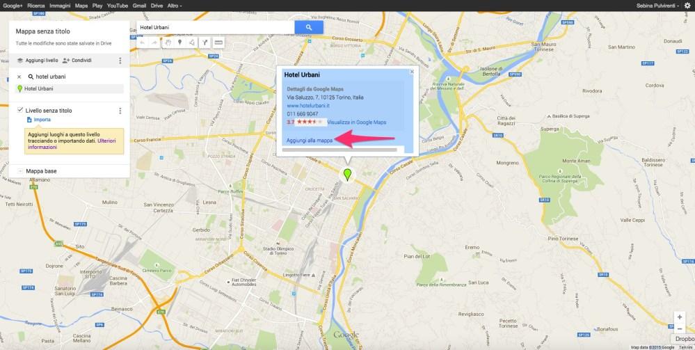 Aggiungi un segnaposto alla mappa su My Maps