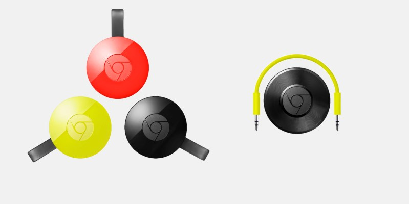 Google Chromecast 2 e Chromecast Audio