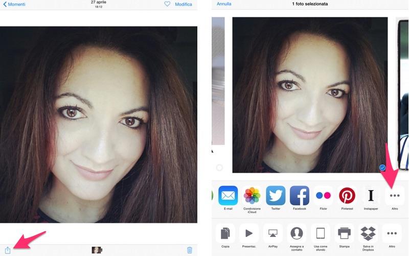 Come inviare una vecchia foto via Snapchat su iPhone