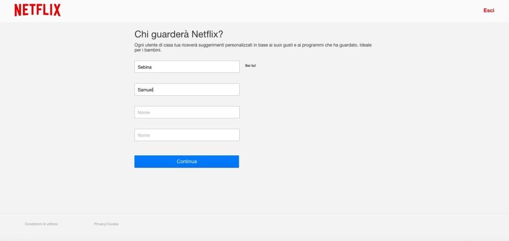 Netflix: crea i profili personalizzati