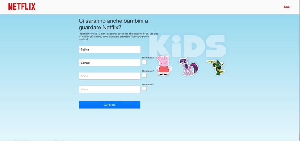 Netflix: puoi creare un profilo per bambini