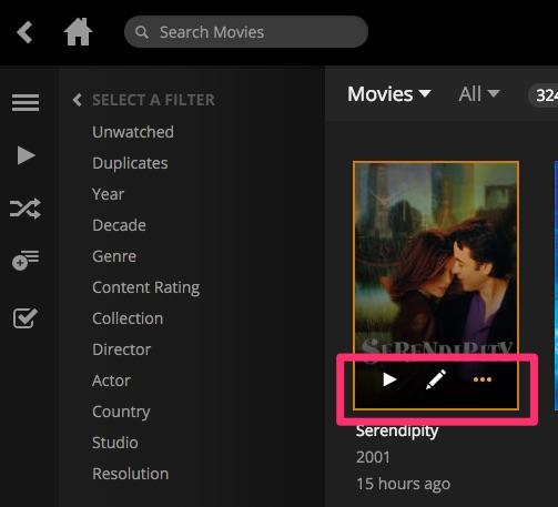 Plex - Opzioni film