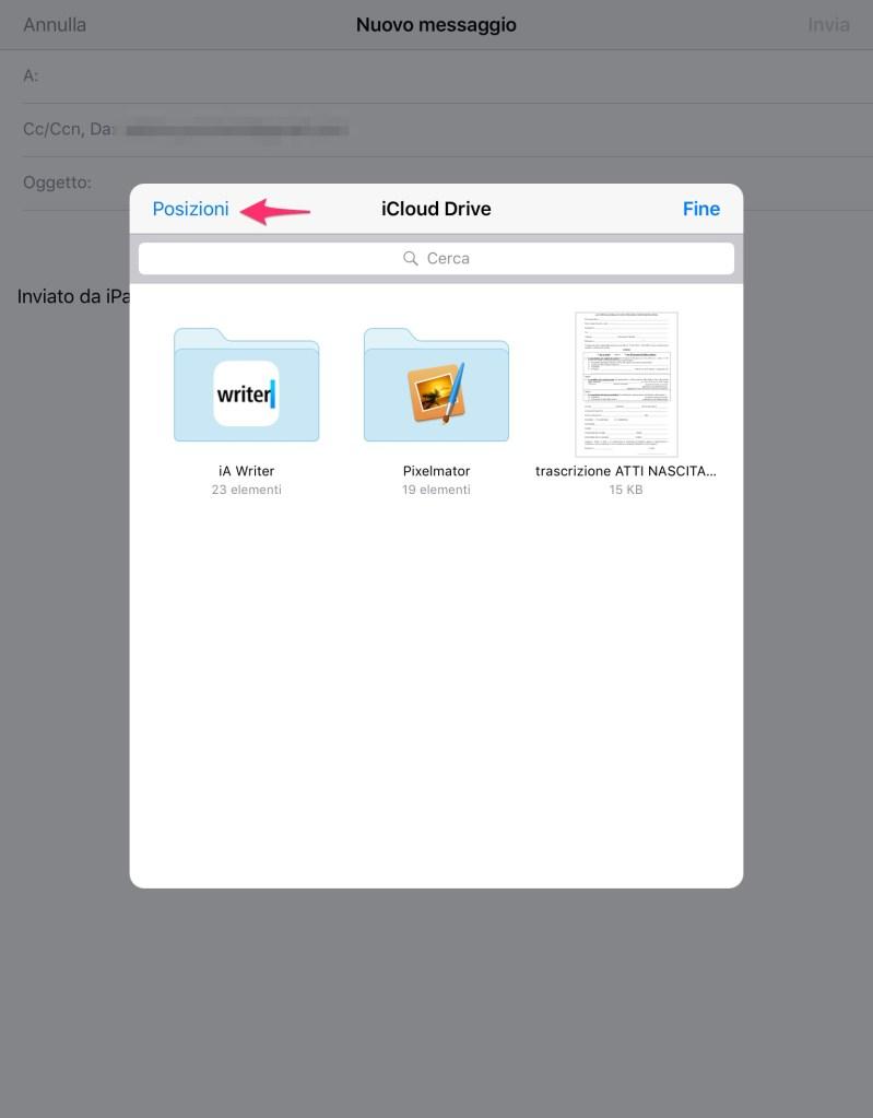 Inviare in allegato un file su Dropbox via iOS Mail - 2