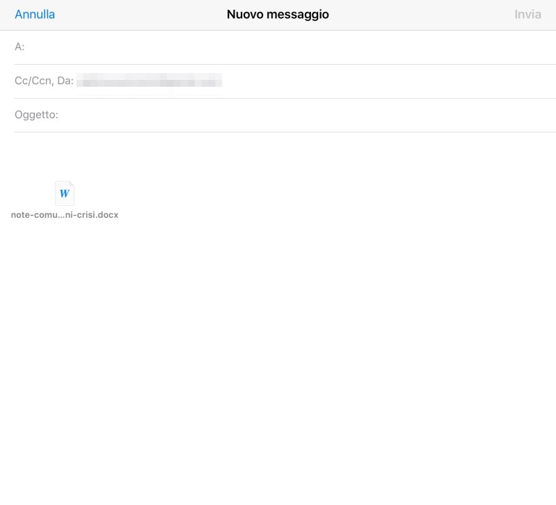 Inviare in allegato un file su Dropbox via iOS Mail - 6
