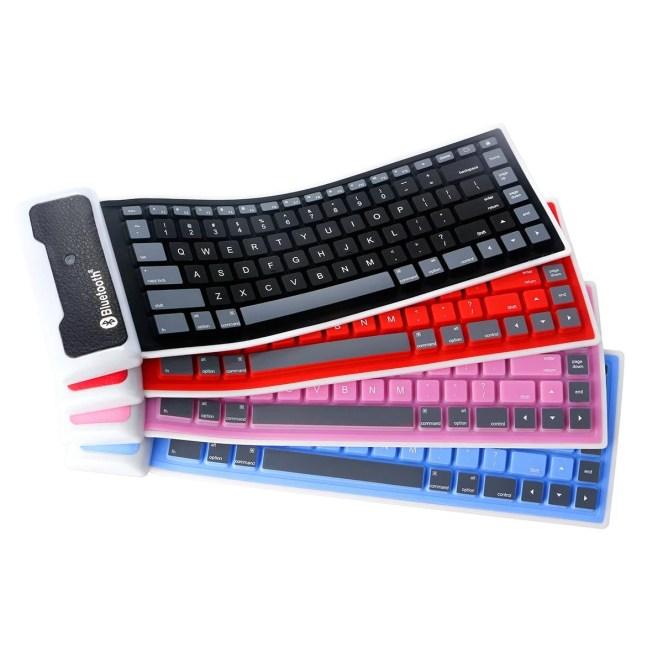 Tastiera Bluetooth arrotolabile di silicone