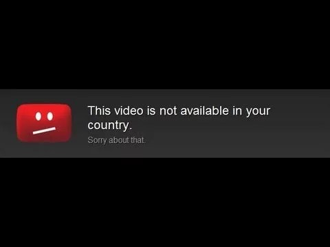 Video that you are trying to stream is not available in your country