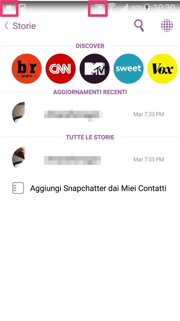 Come salvare i video di Snapchat su Android