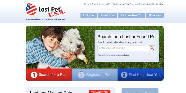 find your lost pets