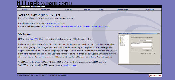 Download a complete website