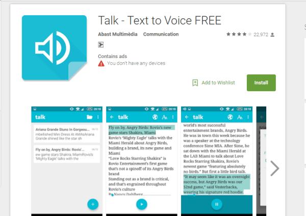 Text-to-Speech Apps