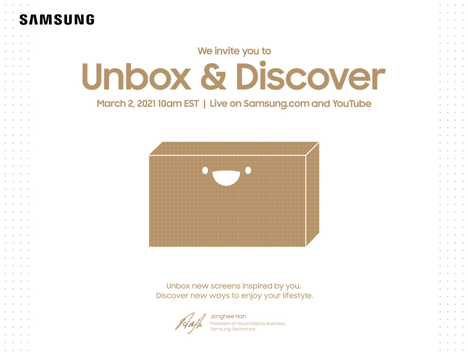 Samsung Unbox & Discover event