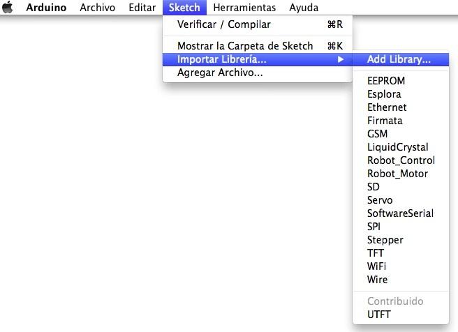 Importar una librería de Arduino en MAC