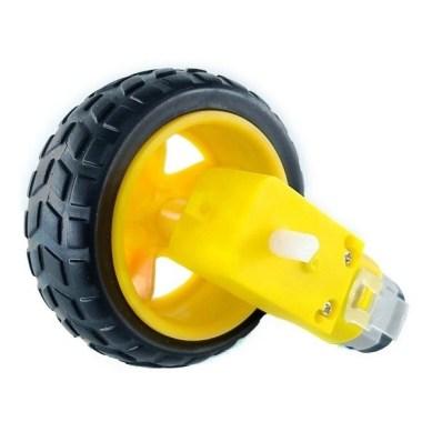 Motorreductor con llanta de goma
