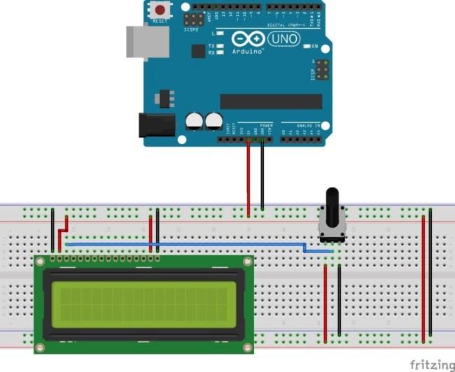 LCD 16X2 con Arduino - Potenciómetro de Contraste