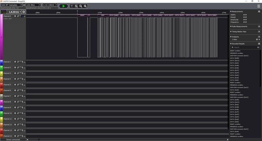 DS18B20 captura 1 wire kingstvis