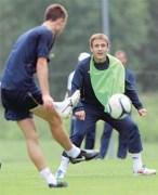 Ivan Dzoni, ici à l'entrainement