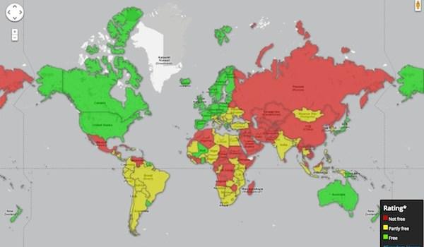 Libertad de Prensa en el mundo 2012
